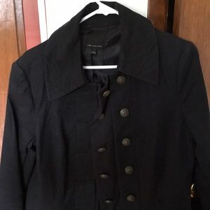The limited black military style light jacket